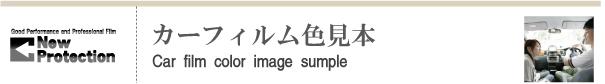 カーフィルム色見本帳|ニュープロテクション